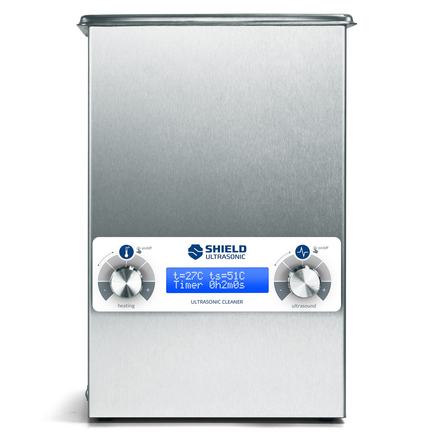 Shield Ultrasonic SC-035 Ultrasonic Cleaner 0.35gal / 1.3l | Stainless Steel, Heating, Digital, Laboratory Grade 25kHZ