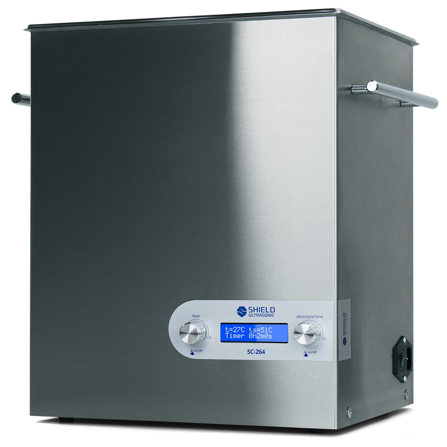 Shield Ultrasonic SC-264 Ultrasonic Cleaner 2.64gal / 10l | Stainless Steel, Heating, Digital, Laboratory Grade 25k