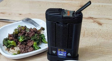 Mighty vaporizer with dinner