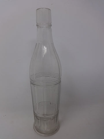 Bottle Clear Glass fluted bottle