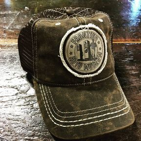 Brown Distressed Gas Station Guy Hat