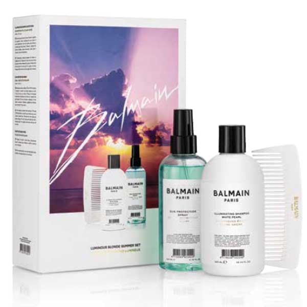 Coffret Luminous blonde Summer set Balmain