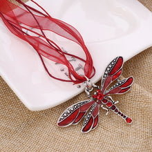 Rhinestone Dragonfly Necklace - Free Shipping