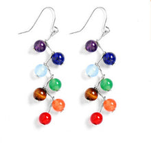 Natural Rainbow Stone Rainbow Drop Earrings - Free Shipping