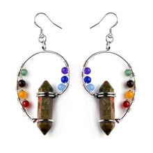 Natural Chakra Hexagonal Earrings - Free Shipping