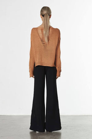 Influence Knit Sweater Toffee
