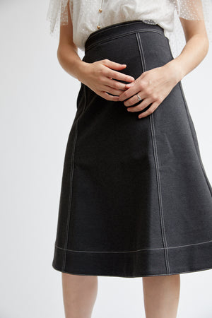 Grey A-Line Skirt-Elliatt-Eternal Skirt