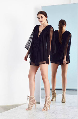 Tranquil Playsuit Black