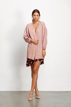 Ladies Pink Cardigan Elliatt Katherine Knit cardigan