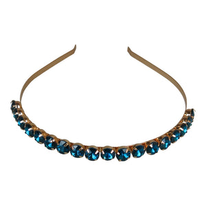 Morgan and taylor-Single Row Diamonte Juliette headband