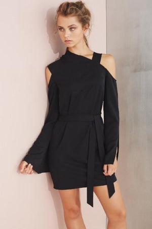 Ladies Black Dress - Cooper St - Hydra One Shoulder Dress