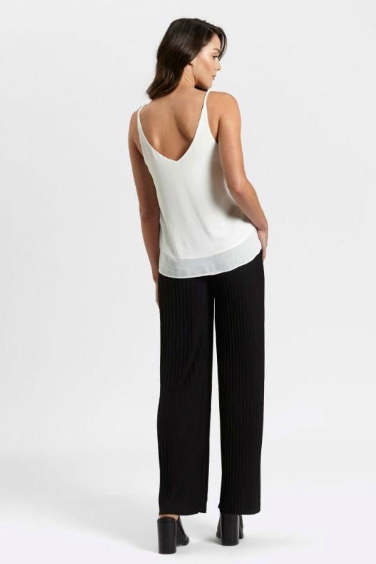 Ladies Black Pants - Pleats - MVN - Escape With Me Pants