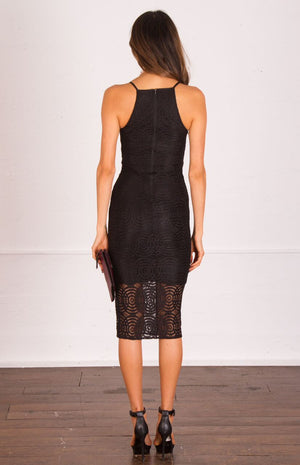 Bria Lace Bodycon Midi Dress