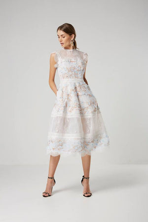 ladies White lace Dress- Elliatt-Ariel Dress
