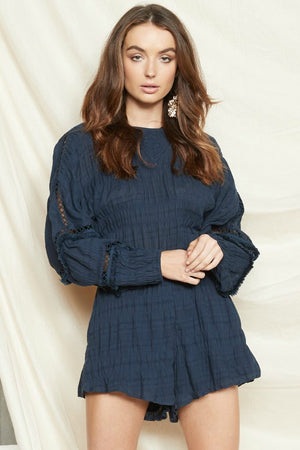 Navy Playsuit - PS The Label - Beau Playsuit