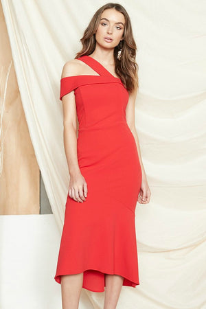 Ladies Dress - PS The Label - Red - Bijou Dress