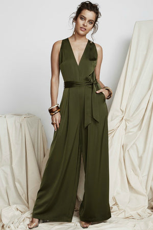 Borderline Jumpsuit Olive