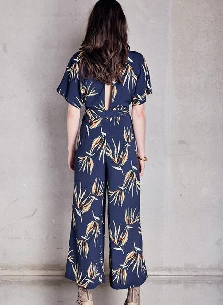 PS The Label Caught There Jumpsuit Navy Print