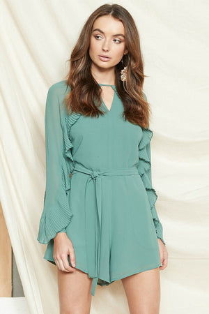 Ladies Playsuit - Sage Green - PS The Label - Celia Playsuit