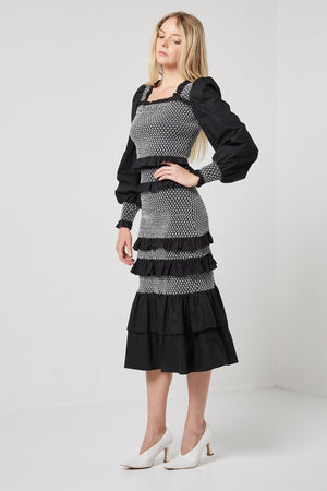 Black and white top and skirt-Elliatt-Climate Set