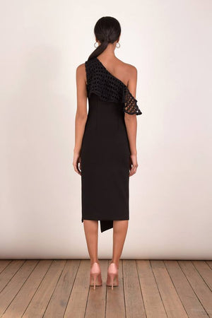 Ladies Black Dress-Elliatt-Crystal Dress