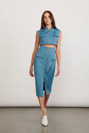 Ladies Top and Skirt Set-Elliatt-Voyage Top and Skirt