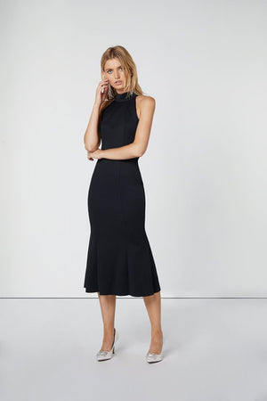 Navy Bodycon Midi-Elliatt-Fiancee Dress