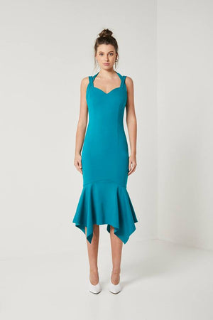 Ladies Teal Dress-Elliatt-Glasshouse Dress
