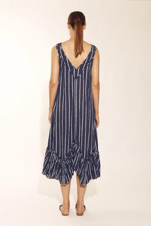 Navy striped Maxi-Solito-Glimmer Grecian Maxi