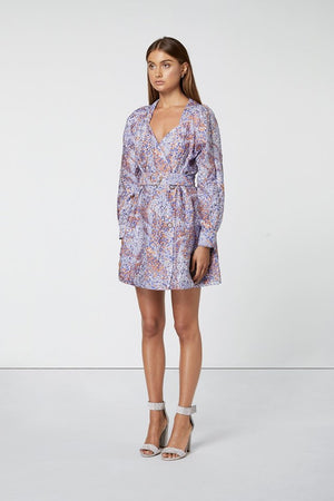Ladies Printed long Sleeve mini-Elliatt-Halcyon Dress