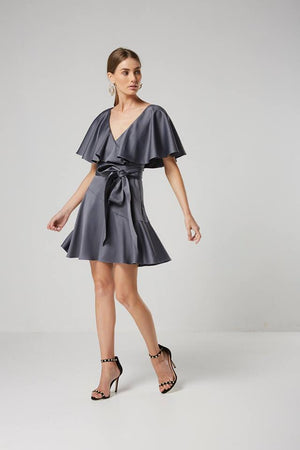 Ladies Silver Party dress-Elliatt-Haven Dress