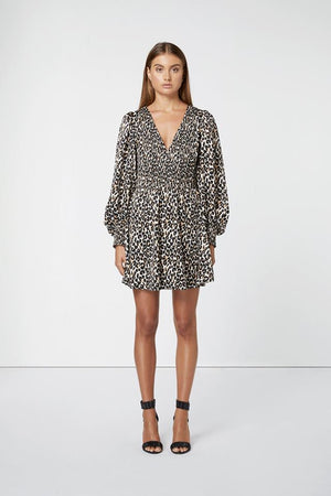 Leopard Print Mini Dress-Elliatt-Karma Dress