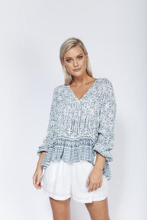 Solito - Ladies Blouse - Indio Flower Blouse