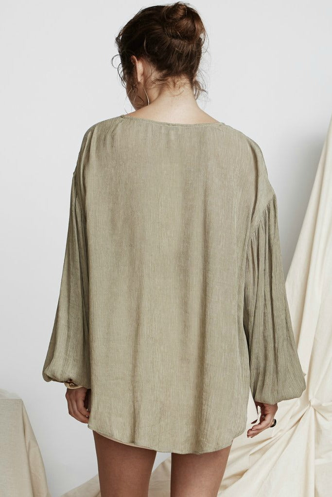 Womens Top - PS The Label - Initiation Blouse - Khaki