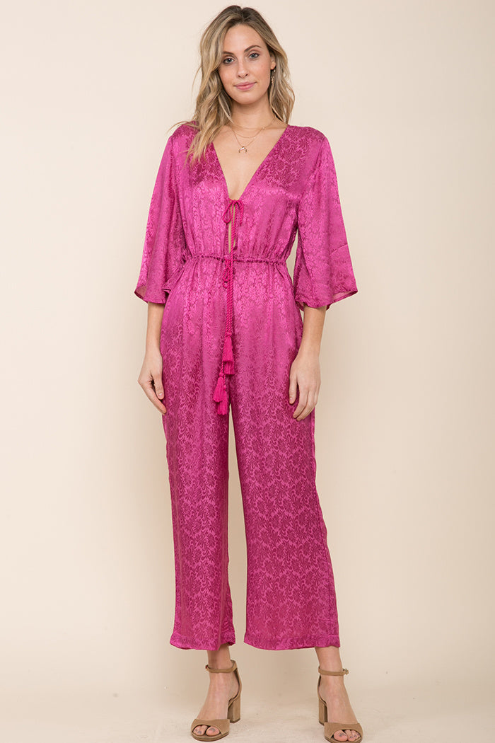 Sweet Temptation Tie Front Jumpsuit