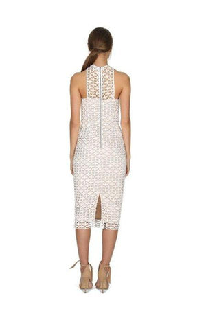 Karlie High Neck Lace Dress