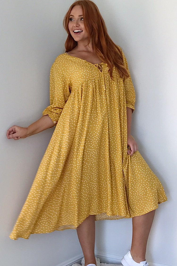 Polka dot Dress-Caro-Kruger Dress