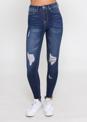 Leoni-Kylie Denim Ink Wash Jeans