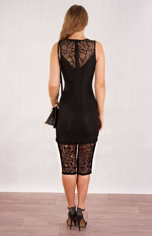 Audrey Lace Midi Dress