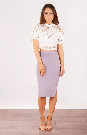 Ajoy Levora Cassandra High Waisted Midi Skirt