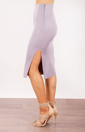 Cassandra High Waisted Midi Skirt