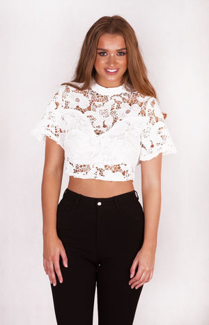 Eden Collared Crop Top