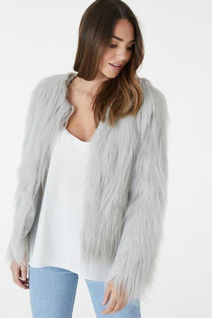 Marmont Faux Fur - Light Grey