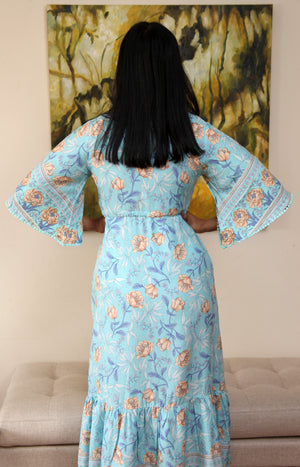 Blue Floral Maxi-Aria-Lily Dress