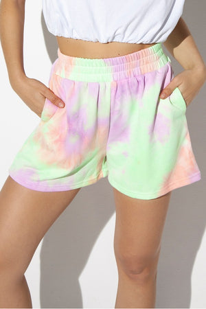 Lilac Tie Dye-BY.DYLN-Lincoln track short
