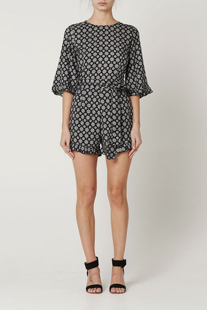 May the Label Lacey Playsuit Medalion Print