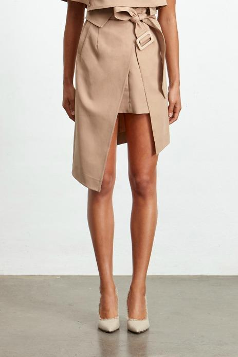 Ladies Tan Skirt-Elliatt-Milan Skirt Tan
