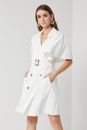 Ladies white Trench-Elliatt-Moment Trench