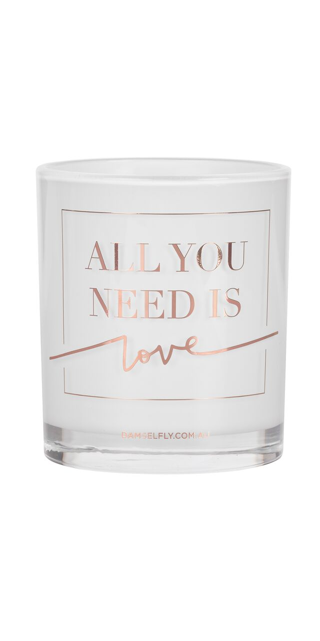 Damselfly All you need is Love Candle