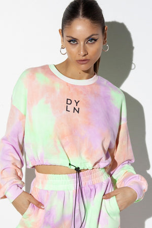 Lilac Tie Dye-By.Dyln-Ollie Crop sweater